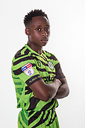 Forest Green Rovers Udoka Godwin-Malife(22) during the official team photocall for Forest Green Rovers at the New Lawn, Forest Green, United Kingdom on 29 July 2019.
