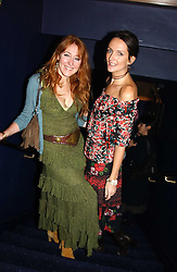 Left to right, CHARLOTTE TILBURY and SAFFRON ALDRIDGE at a party hosted by Tatler magazine to celebrate the publication of the 2004 Little Black Book held at Tramp, 38 Jermyn Street, London SW1 on 10th November 2004.<br />