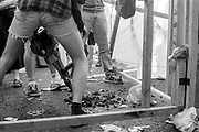 Drilling the road, Reclaim the Streets, Shepherd's Bush, London, July 1996