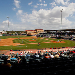 March 3, 2011; Kissimmee, FL, USA; A general view during a spring training exhibition game between the Florida Marlins and the Houston Astros at Osceola County Stadium.  Mandatory Credit: Derick E. Hingle