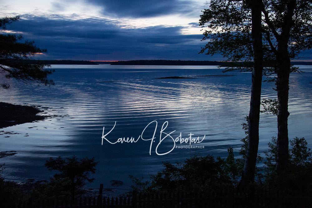 Sunset Cove Road Harpswell Maine. ©2015  Karen Bobotas Photographer