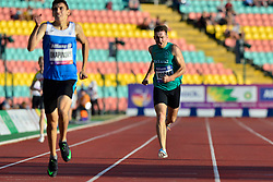 From left to right Yaroslav Okapinski, UKR, Paul Keogan, IRE competing in the T37, 400m at the Berlin 2018 World Para Athletics European Championships