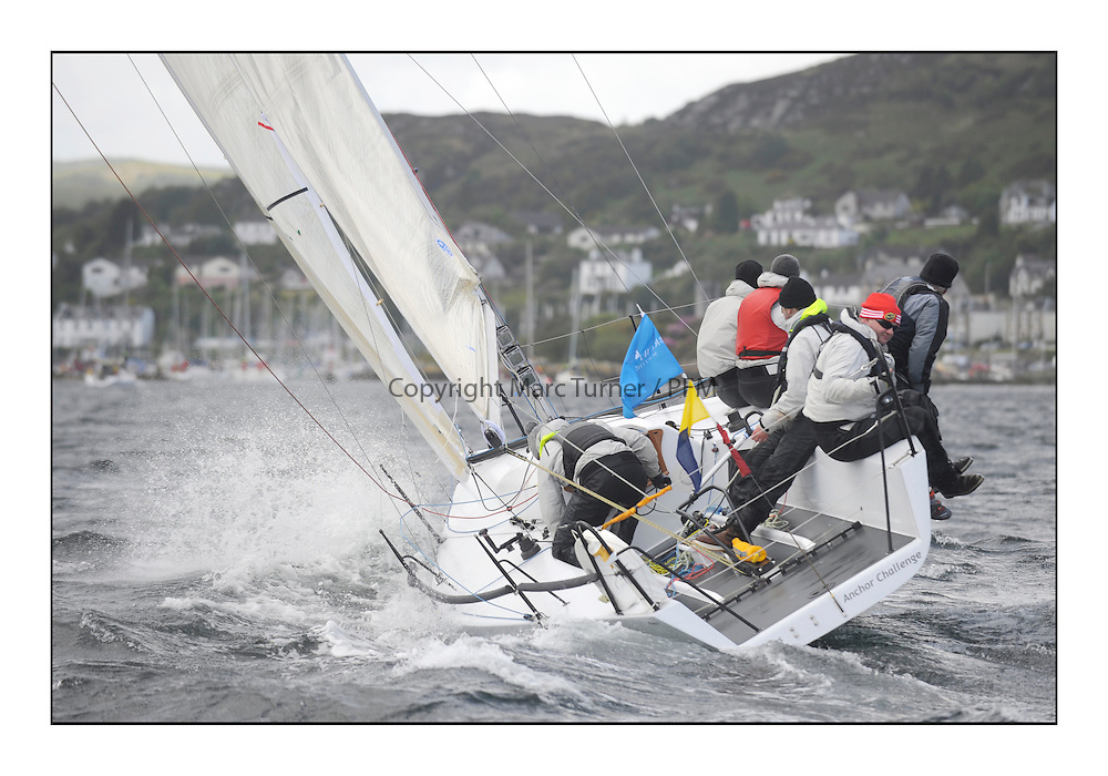 Brewin Dolphin Scottish Series 2011, Tarbert Loch Fyne - Yachting - Day 2 of the 4 day series. Windy!.IRL3087, Anchor Challenge, Eamonn Rohan, Royal Cork YC, Farr 1/4 Ton..