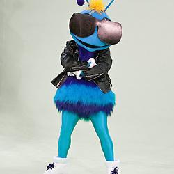26 September 2008:  Hornets mascot Hugo poses for a portrait during media day for the New Orleans Hornets at the New Orleans Arena in New Orleans, LA.