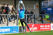 Forest Green Rovers goalkeeper Sam Russell(23) during the warm up during the Vanarama National League match between Torquay United and Forest Green Rovers at Plainmoor, Torquay, England on 26 December 2016. Photo by Shane Healey.