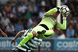 September 8, 2017 - Santa Maria Da Feira, Aveiro, Portugal - Feirense's Brazilian goalkeeper Caio Secco in action during the Premier League 2017/18 match between CD Feirense and Sporting CP, at Marcolino de Castro Stadium in Santa Maria da Feira on September 8, 2017. (Credit Image: © Dpi/NurPhoto via ZUMA Press)