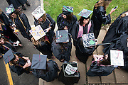 Student prepare for the 2014 Ohio University Commencement Ceremony. Photo by Olivia Wallace / Ohio University