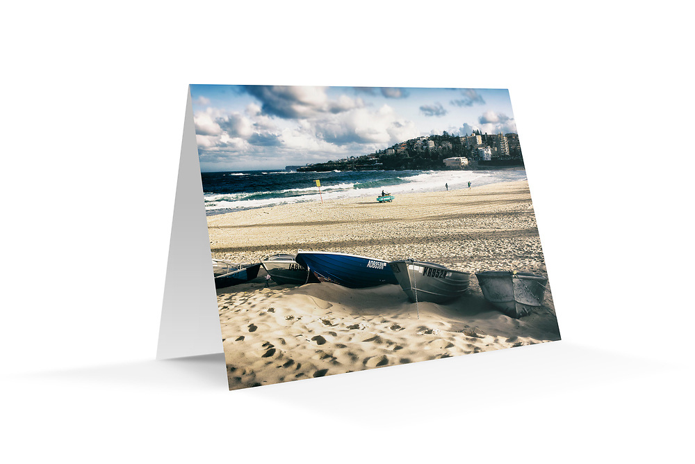"Photo Art Greeting Card - Sydney Coastal Collection (Coogee Beach). Printed on 350gsm matte card, 174 x 123mm, blank inside, envelope included, packaged in sealed poly bag. Click ""Add to Cart"" to choose your own mix of 5, 10, or 20 cards from this collection."