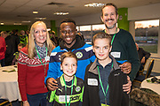 Players sponsorship Forest Green Rovers Drissa Traoré(4) during the EFL Sky Bet League 2 match between Forest Green Rovers and Crawley Town at the New Lawn, Forest Green, United Kingdom on 24 February 2018. Picture by Shane Healey.