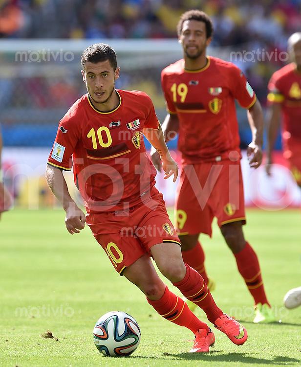 FUSSBALL WM 2014  VORRUNDE    Gruppe H     Belgien - Algerien                       17.06.2014 Eden Hazard (Belgien) am Ball