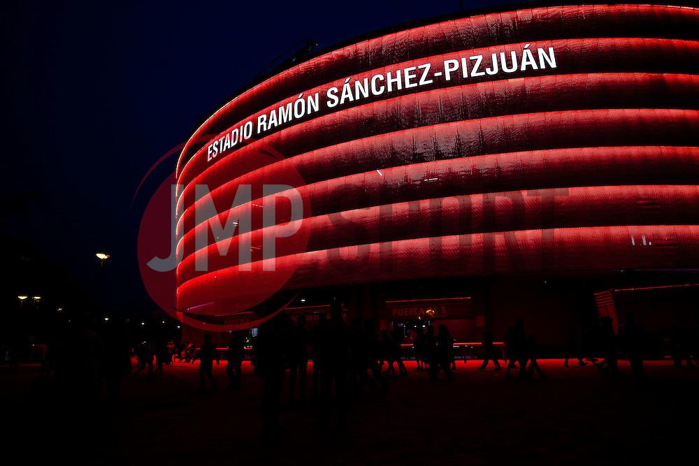 General View outside the stadium - Rogan Thomson/JMP - 22/02/2017 - FOOTBALL - Estadio Ramon Sanchez Pizjuan - Seville, Spain - Sevilla FC v Leicester City - UEFA Champions League Round of 16, 1st Leg.