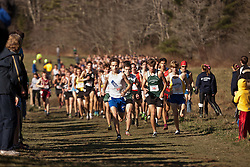 New England High School XC Championship, Trevor Crawley, Cumberland, RI, leads