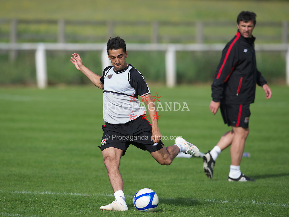 CHESTER, ENGLAND - Monday, May 23, 2011: Wales' Neil Taylor during a training session ahead of the Carling Nations Cup match against Scotland. (Photo by David Rawcliffe/Propaganda)