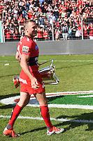 Matt Giteau avec le trophee Champions Cup - 09.05.2015 - Toulon / Castres - 24eme journee de Top 14 <br /> Photo : Alexandre Dimou / Icon Sport