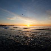 Today's  winter sunrise at Narragansett Town Beach,  .  June  5, 2013.