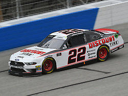 February 23, 2019 - Hampton, GA, U.S. - HAMPTON, GA - FEBRUARY 23: Austin Cindric, Team Penske, Ford Mustang Discount Tire (22) races through the corner during the Xfinity Series Rinnai 250 on February 23, 2019, at Atlanta Motor Speedway in Hampton, GA.(Photo by Jeffrey Vest/Icon Sportswire) (Credit Image: © Jeffrey Vest/Icon SMI via ZUMA Press)