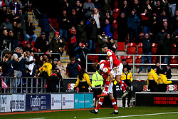 Michael Smith of Rotherham United celebrates with teammates after scoring a goal to make it 2-0 - Mandatory by-line: Robbie Stephenson/JMP - 18/01/2020 - FOOTBALL - Aesseal New York Stadium - Rotherham, England - Rotherham United v Bristol Rovers - Sky Bet League One