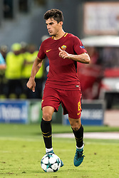 Diego Perotti of AS Roma during the UEFA Champions League group C match match between AS Roma and Atletico Madrid on September 12, 2017 at the Stadio Olimpico in Rome, Italy.