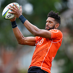 Hyron Andrews of the Cell C Sharks during the Cell C Sharks training session from theBox Hill Rugby Union Football Club  RHL Sparks Reserve, Canterbury Rd & Middleborough Road, Box Hill VIC 3128. Melbourne,Australia 20 February 2020. (Photo Steve Haag Sports -Hollywoodbets)
