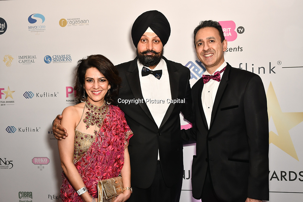 Tony Shergill attend the BritAsiaTV Presents Kuflink Punjabi Film Awards 2019 at Grosvenor House, Park Lane, London,United Kingdom. 30 March 2019