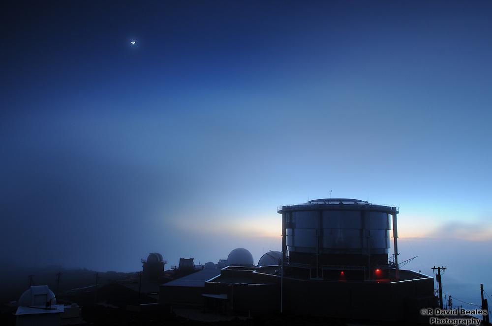 USAF Advanced Electro Optical System Observatory at the Summit of Haleakala, Maui