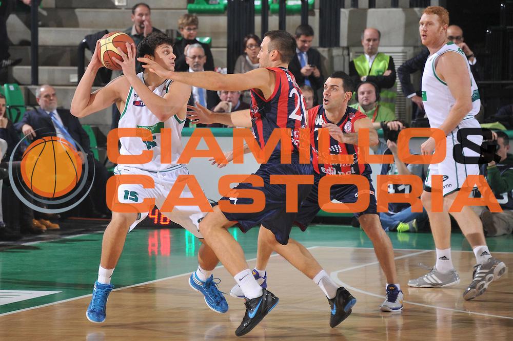DESCRIZIONE : Treviso Lega A 2011-12 Benetton Treviso Angelico Biella<br /> GIOCATORE : alessandro gentile<br /> CATEGORIA :  passaggio<br /> SQUADRA : Benetton Treviso Angelico Biella<br /> EVENTO : Campionato Lega A 2011-2012<br /> GARA : Benetton Treviso Angelico Biella<br /> DATA : 26/11/2011<br /> SPORT : Pallacanestro<br /> AUTORE : Agenzia Ciamillo-Castoria/M.Gregolin<br /> Galleria : Lega Basket A 2011-2012<br /> Fotonotizia :  Treviso Lega A 2011-12 Benetton Treviso Angelico Biella<br /> Predefinita :