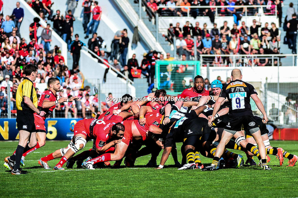 Melee - 05.04.2015 - Toulon / Londres Wasps - 1/4Finale European Champions Cup<br />Photo : Dave Winter / Icon Sport