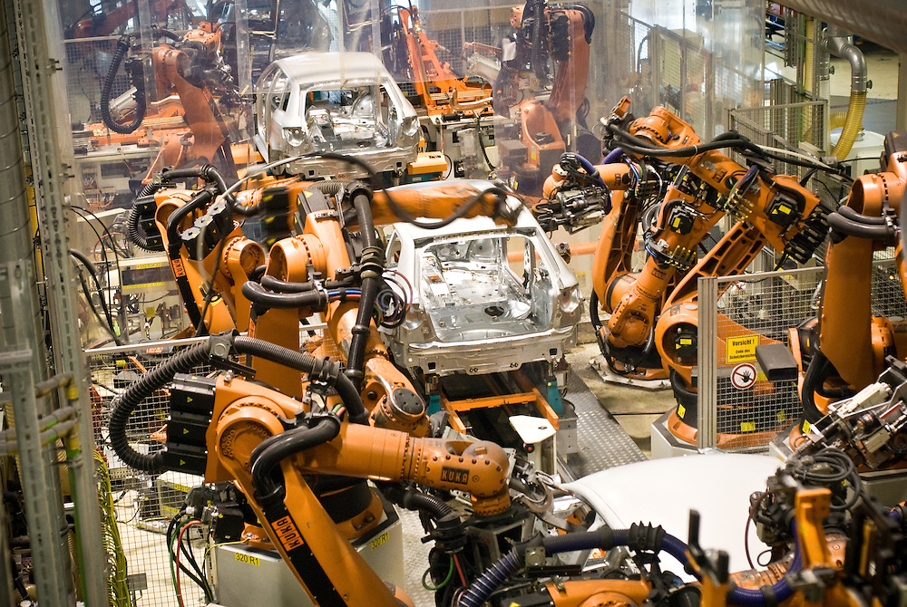 Audi car factory in Ingolstad Germany.