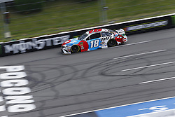 June 1, 2018 - Long Pond, Pennsylvania, United States of America - Kyle Busch (18) brings his car down the frontstretch during qualifying for the Pocono 400 at Pocono Raceway in Long Pond, Pennsylvania. (Credit Image: © Chris Owens Asp Inc/ASP via ZUMA Wire)