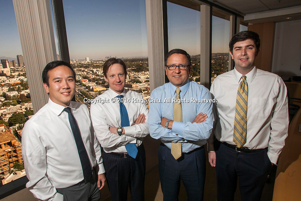 From left to right, Ceron Rhee, Michael Dal Bello, Tony Pritzker, and Evan Earley of Pritzker Group Private Capital.(Photo by Ringo Chiu/PHOTOFORMULA.com)