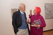 SIR PHILIP DOWSON; SUSIE ALLAN HUXLEY, PINKRoyal Academy Schools Annual dinner and Auction 2012. Royal Academy. Burlington Gdns. London. 20 March 2012.