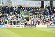 A-Boards in front of East Stand during the EFL Sky Bet League 2 match between Forest Green Rovers and Milton Keynes Dons at the New Lawn, Forest Green, United Kingdom on 30 March 2019.