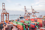 The Port of Jakarta also known as Tanjung Priok Port is the largest Indonesian seaport and one of the largest seaports in the Java Sea basin, with an annual traffic capacity of around 45 million tonnes of cargo and 4,000,000 TEU's.This port is located in Tanjung Priok, North Jakarta.