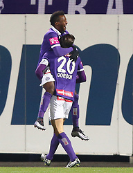 29.01.2016, Generali Arena, Wien, AUT, Testspiel, FK Austria Wien vs FC Basel, im Bild Olarenwaju Ayobami Kayode (FK Austria Wien) und Alexander Gorgon (FK Austria Wien) // during a preperation Football Match between FK Austria Wien vs FC Basel at the Generali Arena in Vienna, Austria on 2016/01/29. EXPA Pictures © 2016, PhotoCredit: EXPA/ Thomas Haumer