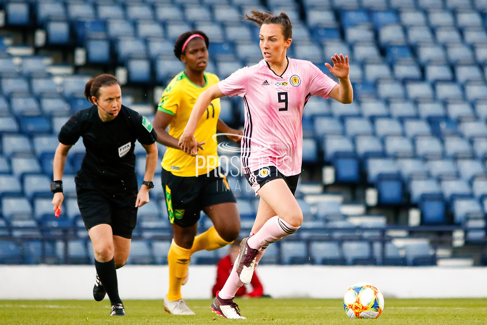 Caroline WEIR (Manchester City WFC (ENG)) of Scotland  during the International Friendly match between Scotland Women and Jamaica Women at Hampden Park, Glasgow, United Kingdom on 28 May 2019.