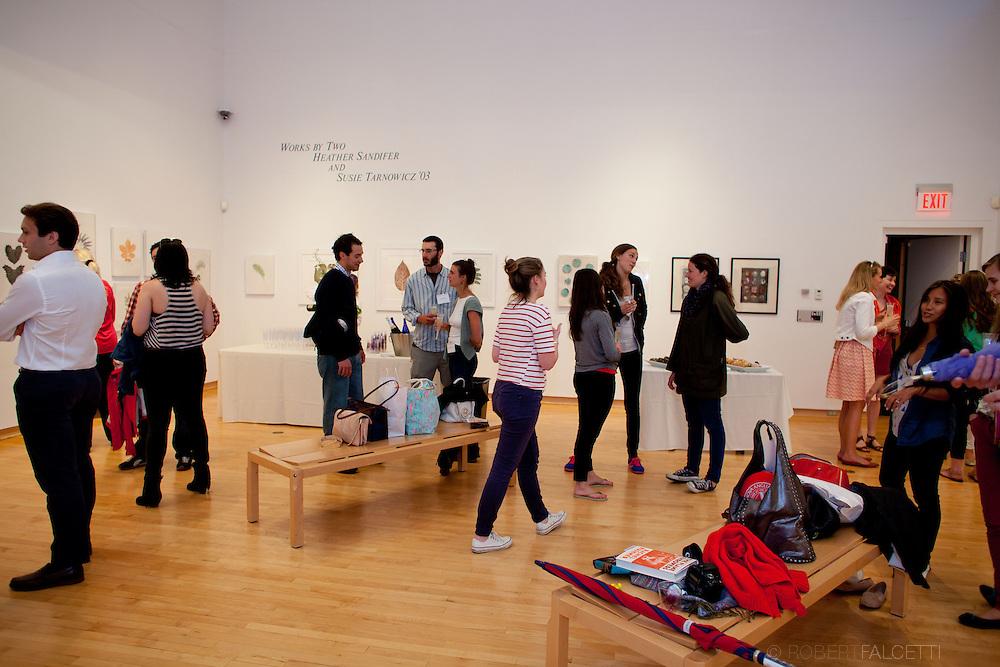 Taft School-Alumni Weekend 2013- Artist reception honoring Susie Tarnowicz '03. (Photo by Robert Falcetti)