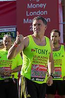 Tony Audenshaw in the celebrity area ahead of the Gren Start at The Virgin Money London Marathon 2014 on Sundy 13 April 2014<br /> Photo: Neil Turner/Virgin Money London Marathon<br /> media@london-marathon.co.uk