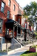 Condominiums located in the regentrified area of Irvine Park.  St Paul Minnesota USA