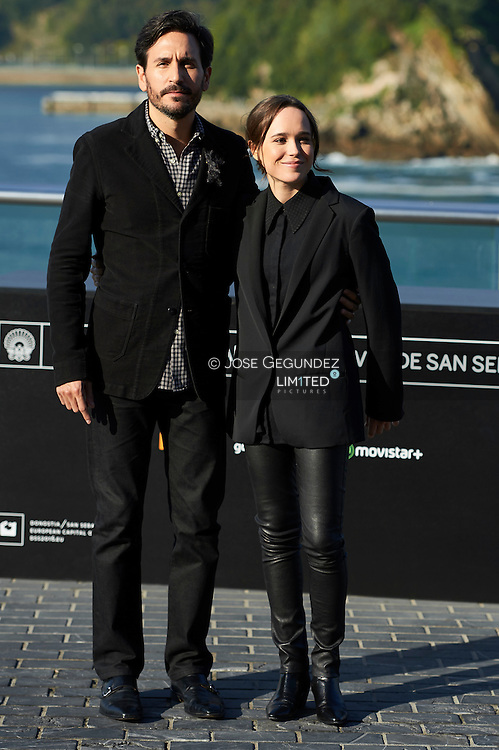 Peter Sollet, Ellen Page pose for 'Freeheld' photocall during 63rd San Sebastian International Film Festival at the Aquarium on September 24 in San Sebastian