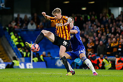 Jonathan Stead of Bradford City is challenged by Gary Cahill of Chelsea - Photo mandatory by-line: Rogan Thomson/JMP - 07966 386802 - 24/01/2015 - SPORT - FOOTBALL - London, England - Stamford Bridge - Chelsea v Bradford City - FA Cup Fourth Round Proper.
