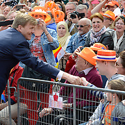 Koningsdag 2014 in Amstelveen, het vieren van de verjaardag van de koning. / Kingsday 2014 in Amstelveen, celebrating the birthday of the King. <br /> <br /> <br /> Op de foto / On the photo:  Koning Willem-Alexander  / King Willem-Alexander