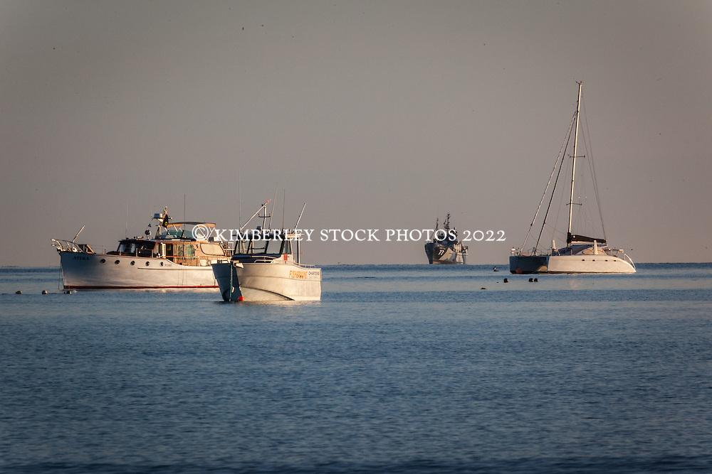 Sea Shepherd's the Steve Irwin sits off Broome's Cable Beach during Operation Kimberley Minimbii.