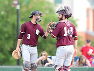 May 9, 2014: The McMurry University War Hawks play against the Oklahoma Christian University Eagles in the NCCAA Central Region Tournament at Dobson Field on the campus of Oklahoma Christian University.