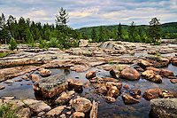 Storforsen whitewater rapids in Sweden