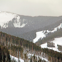 USA, Colorado, Beaver Creek. Scenic snowscape of the Colorado mountains in winter.