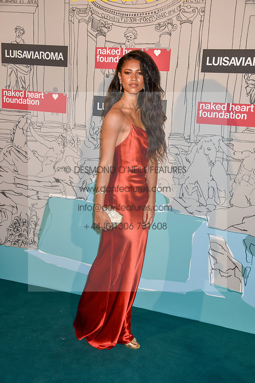 Vick Hope at the Fabulous Fund Fair in aid of Natalia Vodianova's Naked Heart Foundation in association with Luisaviaroma held at The Round House, Camden, London England. 18 February 2019.