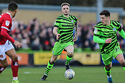 Forest Green Rovers Carl Winchester(7) on the ball during the EFL Sky Bet League 2 match between Forest Green Rovers and Walsall at the New Lawn, Forest Green, United Kingdom on 8 February 2020.