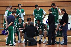 Team of Zlatorog Lasko at 12th Round of UPC League basketball match between KK Luka Koper and KK Zlatorog Lasko, on May 2, 2009, in Arena Bonifika, Koper, Slovenia. Zlatorog won the match 72:71. (Photo by Vid Ponikvar / Sportida)