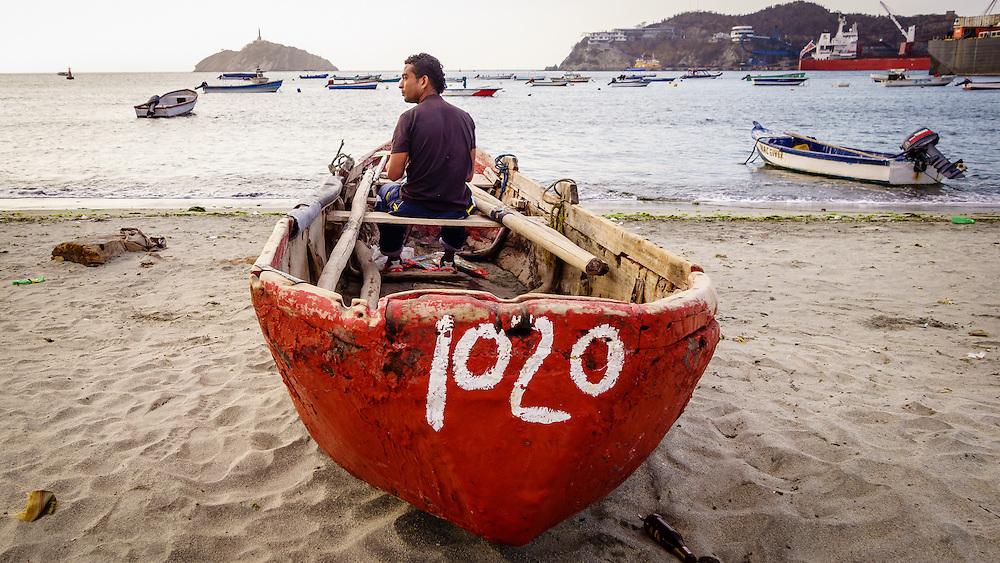 Fishing boat Santa Marta Colombia