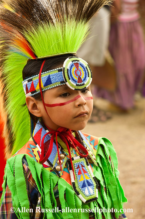 Kid, Traditional Dancer, Milk River Indian Days Pow Wow, Fort Belknap Indian Reservation, Montana.